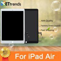 partes de reparo do ipad venda por atacado-Alta Qualidade Touch Screen Assembléia De Vidro com Peças de Reparo Originais para o ar do iPad Com Botão de Casa 3 M Adesivo DHL Frete Grátis