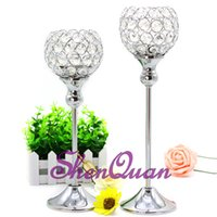 Wholesale cheap wedding candle centerpieces online - cheap crystal centerpieces votives candle holders for wedding table exquisite goblet candle stand for event party