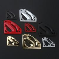pegatinas de superman 3d al por mayor-Coche accesorios exteriores del metal 3D de la motocicleta etiquetas engomadas del coche del emblema S insignia del logotipo del superhombre etiquetas Adhesivos para Yamaha Honda Audi