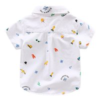 Wholesale cool baby clothes online - New Fashion Baby Boys Shirts Short Sleeve Patchwork Kids Shirt Cool baby Summer Tops Children Clothing