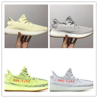 Wholesale infant zebra shoes - 350 v2 Butter SESAME Men Sports Running Shoes Women v2 Infant Blue Tint Semi Frozen Yellow Zebra Cream white Bred Copper Casual Trainers