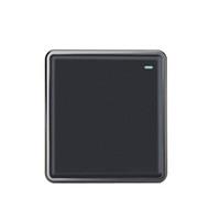 parede de botão venda por atacado-Interruptor de parede cor preta e 220-250V 1 gang 1 way / 2 way botão interruptor