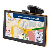 pantalla táctil de 256 mb al por mayor-HD 7 pulgadas Coche Navegación GPS SDRAM 256MB Bluetooth Manos libres Pantalla táctil Camión GPS Navigator Con 8GB Últimos mapas Actualizaciones de mapas de por vida