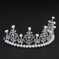 Wholesale moissanite diamond earrings - Children's bride crown children's students perform headdress sweet ornaments