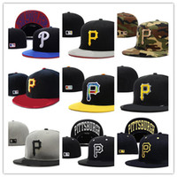 Wholesale Pirates Fashion - Hot Selling Classic Online Shopping Pittsburgh Pirates Street Fitted Fashion Hat P Letters Snapback Cap Men Women Basketball Hip Pop