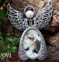 fotos de arte metal al por mayor-Hot Arts Molduras de metal Vintage Mini marcos de fotos Lovely Angel Style Classic Picture Photo Frame para la decoración del hogar y regalos