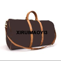 Wholesale brown leather luggage - Top Quality travel bag duffle bag, best quality brand designer luggage handbags large capacity sport bag 3 SIZE