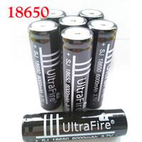 carcasa de batería aa al por mayor-Batería recargable de litio Ultrafire Black 18650 6000mah para Fashlight, Power Bank, electrónica o linterna LED