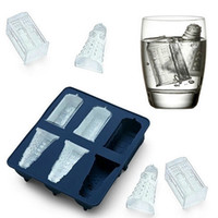 Wholesale rubber candy molds - Silicone Ice Cubes Ice Tray Candy Chocolate Jelly Molds Diy Bar Party Drink Kitchen Accessories