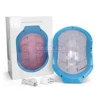 Wholesale Laser Hair Regrowth Helmet Hair Care Therapy Anti hair Loss Machine With Diodes For Male or Femail DHL