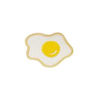 mignons patchs brodés achat en gros de-Diy Délicieux Oeufs Frits Patches pour Vêtements Fer sur Stripe Brodé Applique Patch Mignon pour Tissus Badges Accessoires de Vêtement Patches