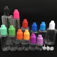 Wholesale 5ml Pet Clear Dropper Bottle - 5ml 10ml 20ml 30ml 50ml Empty Oil Bottle Pet Plastic Dropper Liquid Bottle With Proof Cap Storage Sample Bottle WX9-502