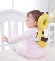 Wholesale baby head cushion - Baby Head Protection Pad Toddler Anti-falling Headrest Pillow Baby Neck Cute Wings Nursing Drop Resistance Cushion KAF01