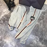 männer hoodie fleece großhandel-18FW luxus designer Sideline Grau Trainingsanzug Frauen Männer Casual Sweatsuit Sport Streetwear Pullover Sets Outdoor Hoodies