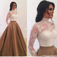 Wholesale Mother Two Piece Dresses - Noble Two Pieces Lace Mother Formal Wear With Long Sleeve Party Wedding Guest Dress Evening 2018 Mother Of The Bride Dress Suit Gowns
