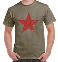 guevara do che camisetas venda por atacado-Vermelho Comunista Estrela Cuba T-Shirt dos homens-Che Guevara Marx Comunismo Legal Casual t shirt do orgulho dos homens