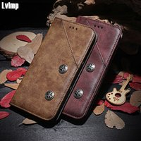 Wholesale alcatel inch phone online – custom Luxury Flip PU Wallet Retro Leather Case For Alcatel L D Cover Stand Function Card Holder Phone Bags Case inch