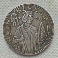 Wholesale commemorative coin gift - 1936 Germany:Third Reich Medal,1000 year commemorative of Heinrich I. Designed by Karl Goet COPY COIN FREE SHIPPING