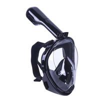 dalış sporu kamerası toptan satış-Gopro Kamera Ile tam Yüz Dalış Maskesi Anti-sis Ve Anti-sızıntı Yüzme Balıkçılık Tüplü Dalış Maskesi Su Sporları Ekipmanları