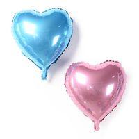 doğum günü kalp balonları toptan satış-Kalp Şekli Folyo Helyum Balonlar Aşk Düğün Doğum Günü Partisi 18 inç Kalp Balaos Bebek Duş Globos Dekor 8 Renkler
