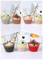 papillon coupe des gâteaux achat en gros de-Biscuits De Fête De Cuisson Cuisson Cupcake Cups Vigne De Papillon De Vigne Filigrané Laser Cases Gâteau De Papier De Chocolat