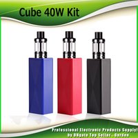 Wholesale Cube Build - Authentic ECT Cube 40W Starter Kits Built-in 2200mAh 2ml Top Filling Kenjoy Elfin Tank Atomizer Kit 100% Genuine