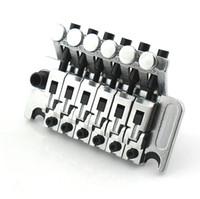 floyd rose locking tremolo оптовых-Новый хром Floyd Rose Lic Тремоло мост двойная система блокировки