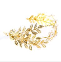Wholesale white butterfly hair accessories resale online - Bridal headwear pearl crystal hair lace butterfly wedding head bridesmaid hair accessories photo accessories hair bands