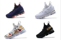 Wholesale Zipper Shoes For Men - KITH x Zoom 15 Black Red basketball shoes For Sale Arrival with Zipper 15 Sneakers 15s Cushion Sports size us7-us12
