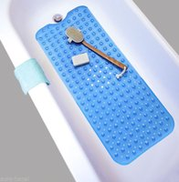 Wholesale pvc bath mats - Ordinary drip rectangular PVC waterproof sucker sucker transparent non-slip shower bath mat bathroom carpet bath toilet carpet BBA341