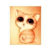 Wholesale United Paints - 2018 New Animal Diamond Painting Lovely Cartoon Cat Paste Cross Stitch Foreign Trade Europe And The United States Russian Style