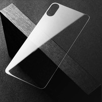 Wholesale rear back mirror - 10-Pack For iPhone X Rear Thin Tempered Glass Screen Protector Clear Back Toughened Glass Protective Film for Apple iPhone X