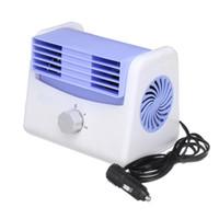 ingrosso ventilatori portatili silenziosi-12V / 24V regolabile Mini silenzioso portatile Ventola di raffreddamento auto Climatizzatore automatico Velocità di raffreddamento Ventola di raffreddamento per auto