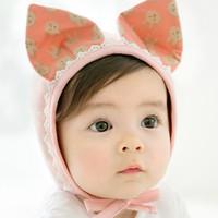 ingrosso cappelli coniglietto neonato-Nuovo Design 3 Colori Autunno Primavera Inverno Toddler Neonato Adorabile Orecchio di Coniglio Cappello Baby Bunny Beanie Caps Puntelli Foto