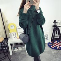 Discount thick winter sweaters for women - Women's Sweaters Winter For Large Size Loose Long Women Warm Turtleneck Thick Plus Size Female Pullovers Knitted Sweater Tricot