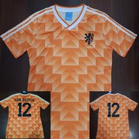 Wholesale holland football shirt - 1988 Van Basten Gullit Retro Soccer Jersey 88 Netherlands Jersey Holland Voetbal Vintage Football Shirts Camiseta Maillot Camisa futebol