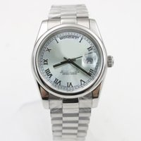Wholesale classic watch mechanical woman - luxury brand watches Roli DAY Classic Women Automatic Mechanical Watch DATE 36mm AAA Quality watch Stainless Steel Watch royal oaks 44