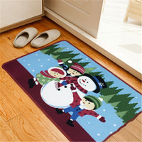 alfombra de microfibra al por mayor-Alfombra de microfibra para sala de estar Alfombras de dibujos animados para cocina Alfombra de piso impresa de Navidad Alfombra de baño Sala Dormitorio Baño Alfombra antideslizante
