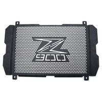 Wholesale radiator guards online - motorcycle cover radiator grille Guard Cove for kawasaki z900 Stainless steel Radiator Grill side cover with logo z