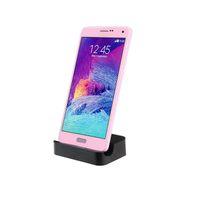 station base großhandel-Top Qualität Universal Android Handy Ladegerät Basis Micro USB Lade Synchronisierungs Docking Station Dock Kostenloser Versand Regenbogen