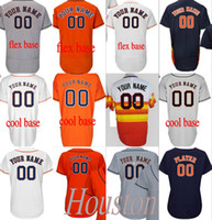 Wholesale base number - Men's women youth 27 Jose Altuve Customized any name number Flexbase Blue Cool Base 4 George Springer Baseball Jersey stitched s-4xl