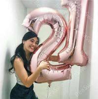 ingrosso numeri di compleanno-2 pz 40 pollici metallic foil numero cifre palloncini 21 anni decorazione della festa di compleanno elio gonfiabile globos sottile numero palla regalo
