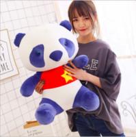 peluche faite à la main achat en gros de-La main Simulation Panda Peluche Animal En Peluche Jouets Pour Bébé Doux Mignon Belle Poupée Belle Enfants Jouets Cadeaux De Noël