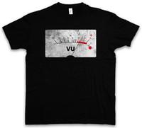 medidor de vinilo al por mayor-VU VOLUME UNITS METER II CAMISETA Decibel Music Bass Tape Record Vinilo Estéreo Mens 2018 fashion Brand T-Shirt O-Neck 100% algodón Camiseta