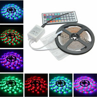 Wholesale free pc controller for sale - DHL Waterproof Strips IP65 M Leds RGB Led Strips leds Remote controller V A power supply