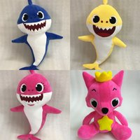 Wholesale multiple games online - Cartoon Pinkfong Plush Toys Fox Sharks Dolls For Children Stuffed Animal Toys Gift Multiple Styles High Quality td WW