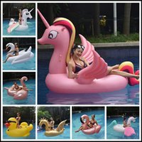 Wholesale pool ride online - 17 Styles Giant Inflatable Unicron Floats Tubes Pool Swimming Toy Ride On Pool Unicron Floating Bed Swim Ring for Water Sports CCA9349