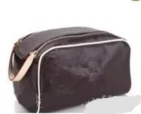 ingrosso chiusura lampo-2018 UOMINI / DONNE BORSE COSMETICHE SACCHETTO BORSA PORTAFOGLIO designer doppia cerniera trucco borse casi cosmetici da toilette borse scatola impermeabile 47528