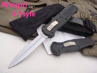 """ingrosso coltelli per maniglie di corda-BM Knife Out front Double Action Auto (3.95 """"Satin Plain) 3300 D2 punta di lancia in acciaio Plain Coltelli tattici Coltelli Scarab 3310BK"""