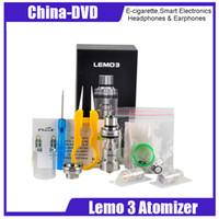 Wholesale electronic cigarette atomizer 4ml - Original Lemo 3 Atomizer 23mm Diameter 4ml Capacity Top E-liquid Filling RTA Tank Electronic Cigarettes atomizer DHL Free Shipping